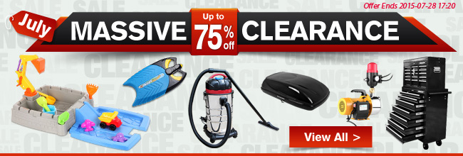 Save up to 75% off massive July clearance at CrazySales.